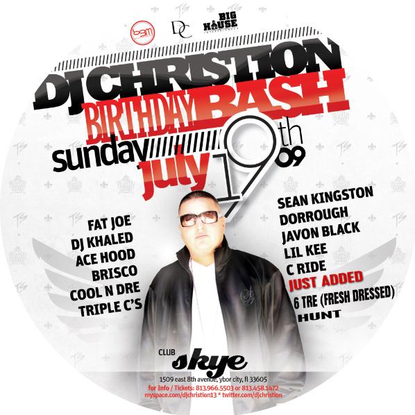 DJ Christion Birthday Bash 7.19.09